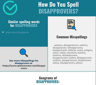 Correct spelling for disapprovers