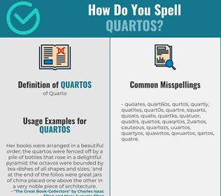 Correct spelling for Quartos