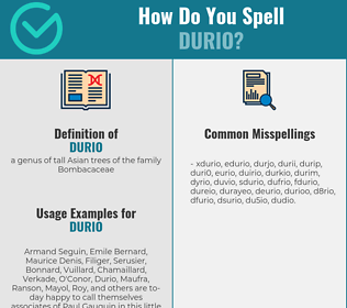 Correct spelling for durio