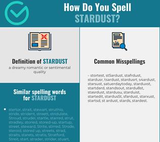 Correct spelling for stardust