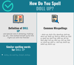 Correct spelling for doll up