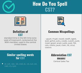 Correct spelling for cst