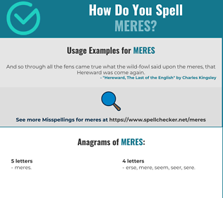 Correct spelling for MERES