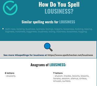 Correct spelling for lousiness