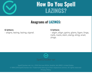 Correct spelling for lazings
