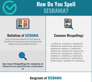 Correct spelling for sesbania