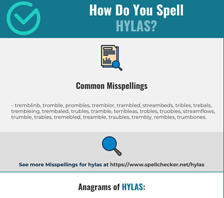 Correct spelling for hylas