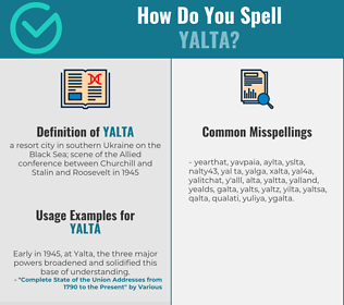 Correct spelling for yalta