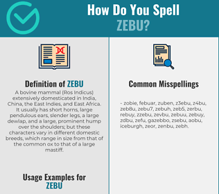 Correct spelling for zebu
