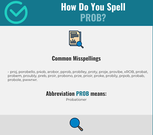 Correct spelling for PROB