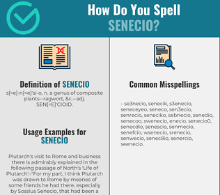 Correct spelling for senecio