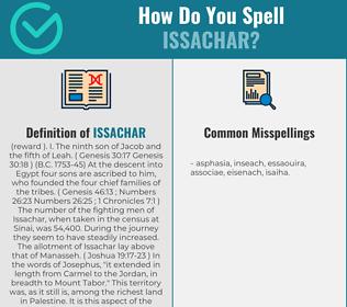 Correct spelling for issachar