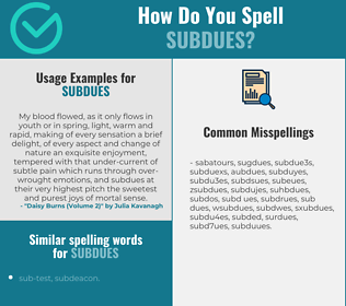 Correct spelling for subdues