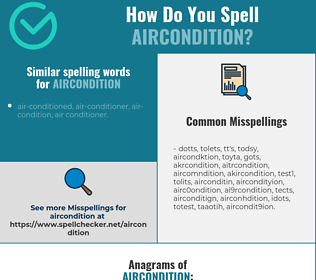 Correct spelling for aircondition