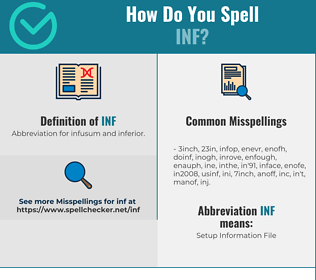 Correct spelling for INF