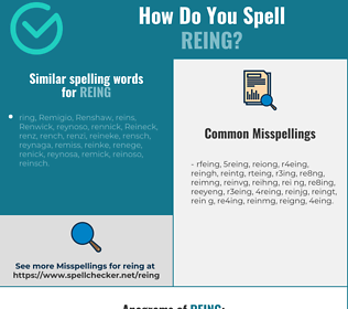 Correct spelling for reing