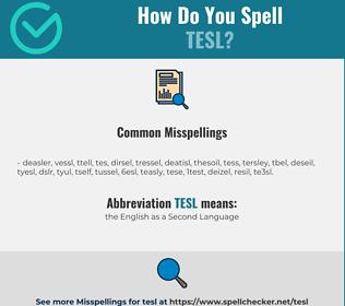 Correct spelling for TESL