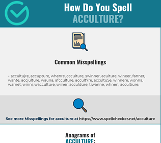Correct spelling for acculture