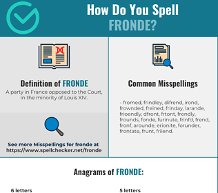 Correct spelling for Fronde