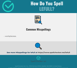 Correct spelling for lefull