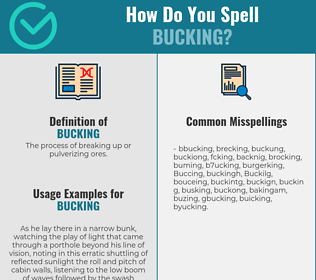Correct spelling for Bucking