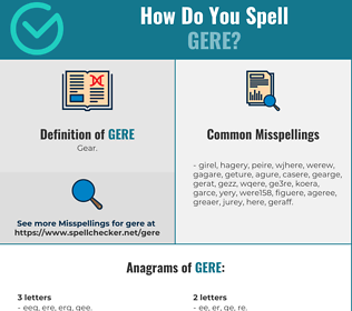 Correct spelling for Gere