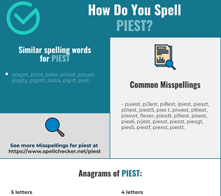 Correct spelling for piest