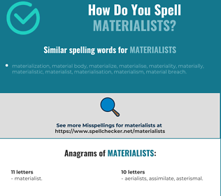 Correct spelling for materialists