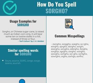 Correct spelling for sorgho