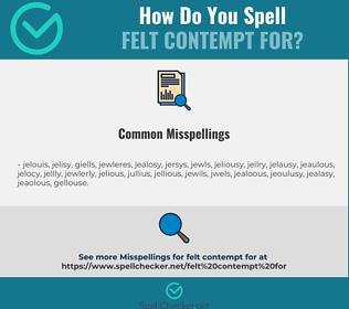 Correct spelling for felt contempt for
