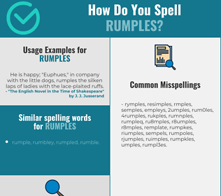 Correct spelling for rumples