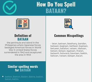 Correct spelling for bataan