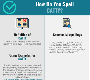 Correct spelling for catty