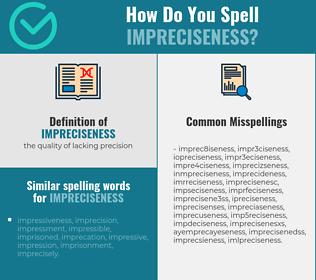 Correct spelling for impreciseness