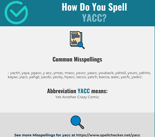 Correct spelling for yacc