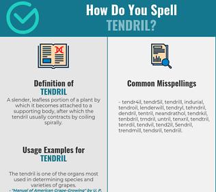 Correct spelling for tendril