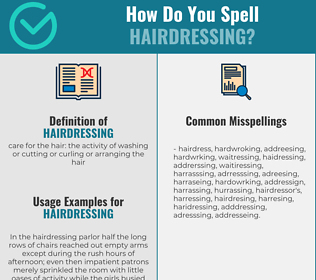 Correct spelling for hairdressing