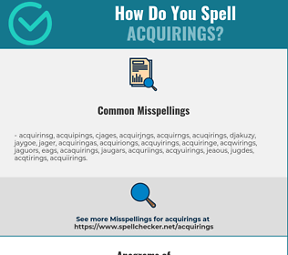 Correct spelling for acquirings