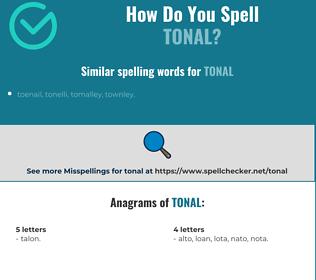 Correct spelling for tonal
