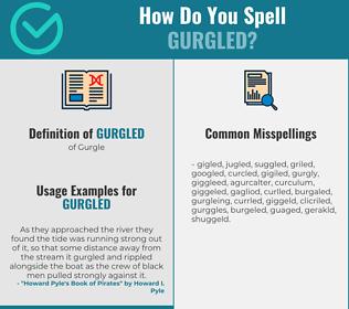 Correct spelling for Gurgled