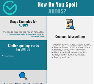 Correct spelling for autos