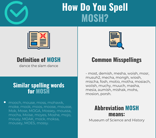 Correct spelling for mosh