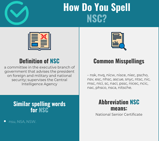 Correct spelling for nsc