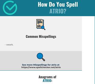 Correct spelling for atrio