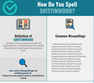 Correct spelling for shittimwood