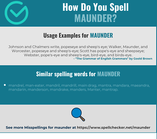 Correct spelling for maunder