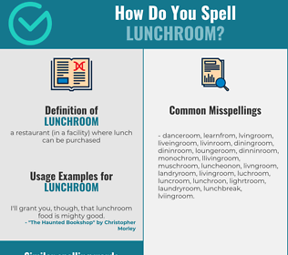 Correct spelling for lunchroom