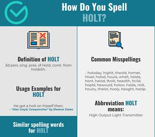 Correct spelling for Holt