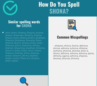 Correct spelling for Shona