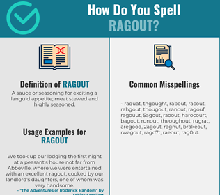 Correct spelling for ragout